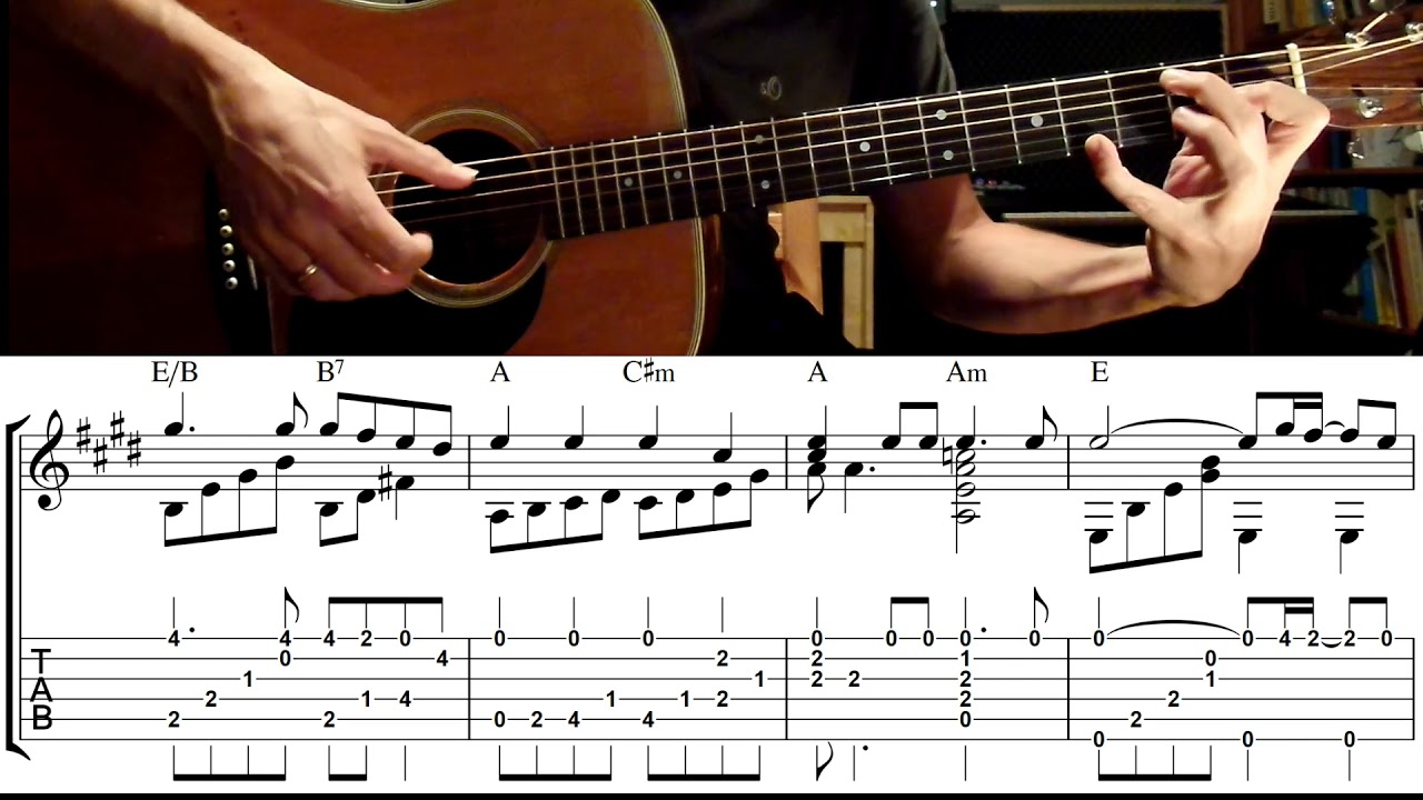 Bridge over troubled water on guitar