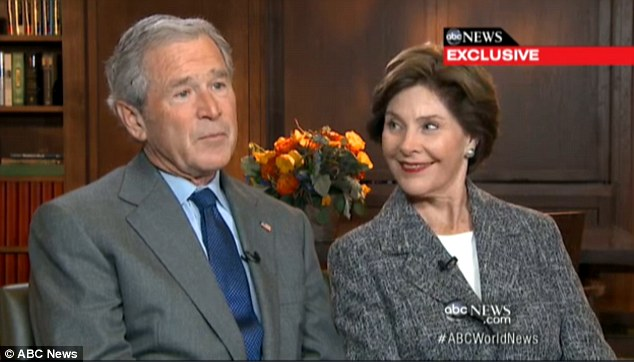 George bush and wife naked