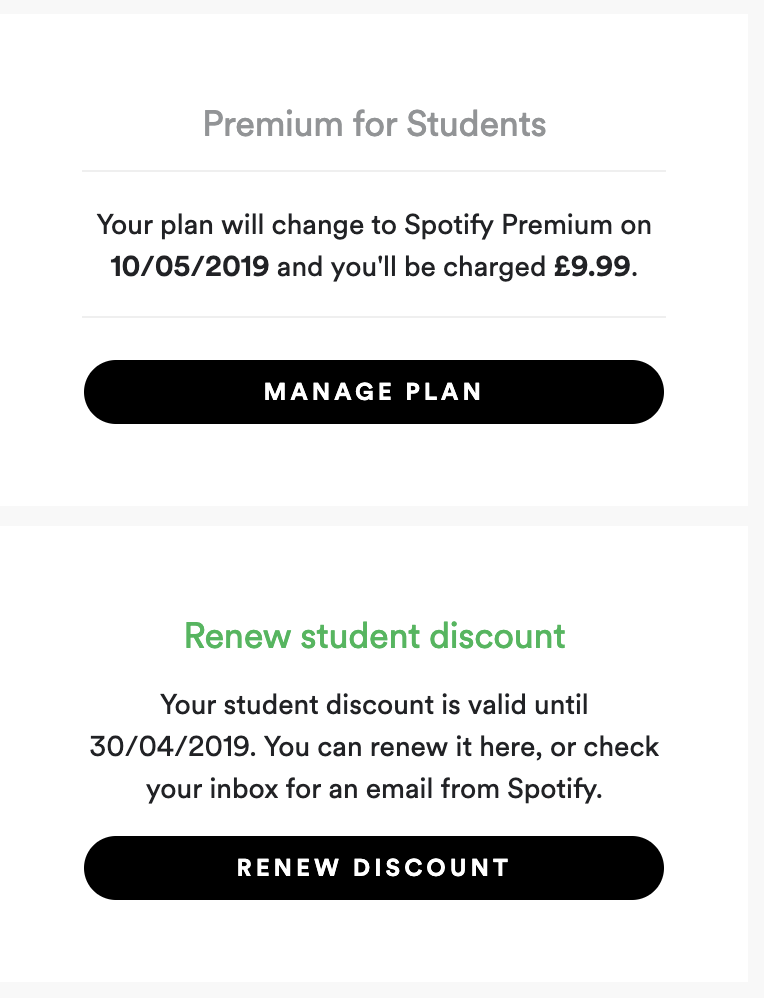 How to renew spotify student
